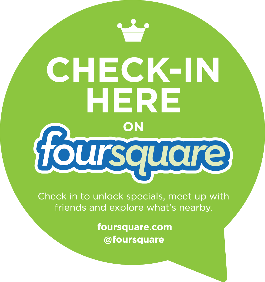 Foursquare Check-in For our Main Location in Omer